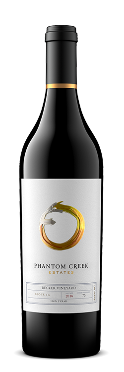 "Bottle of Small Lot ""Block 1A"" Syrah 